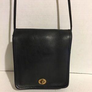 Coach Vintage Black leather crossbody handbag